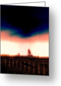 Gloaming Greeting Cards - Lethbridge  Greeting Card by Michael Dalla Costa
