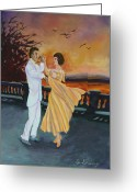 Conformist Greeting Cards - Lets Dance Greeting Card by Gail Daley