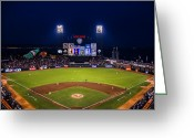 Att Baseball Park Greeting Cards - Lets Go Giants Greeting Card by Rick DeMartile