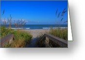 Beach Scenes Greeting Cards - Lets go to the beach Greeting Card by Susanne Van Hulst