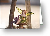 Fairies Art Greeting Cards - Lets rest for a while 2 Greeting Card by Angelina Cornidez