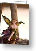 Fairies Art Greeting Cards - Lets rest for a while Greeting Card by Angelina Cornidez
