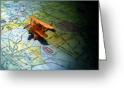 Featured Photo Greeting Cards - Lets Take a Trip Greeting Card by Adam Vance