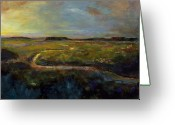 Abstract Landscapes Greeting Cards - Lets Take this Path Greeting Card by Frances Marino