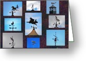 Weather Vane Greeting Cards - Lets Talk About the Weather Greeting Card by Bill Cannon
