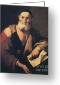Naturalistic Greeting Cards - Leucippus, Ancient Greek Philosopher Greeting Card by Science Source