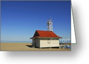 Saving Greeting Cards - Leuty Lifeguard Station in Toronto Greeting Card by Elena Elisseeva
