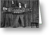 Magic Trick Greeting Cards - Levitation Trick, 19th Century Greeting Card by 