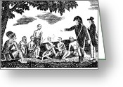 Gass Greeting Cards - Lewis And Clark Expedition Greeting Card by Granger