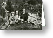 Through The Looking Glass Greeting Cards - Lewis Carroll, Mrs. George Macdonald & Greeting Card by Photo Researchers