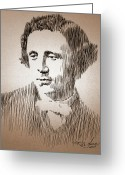 Children Stories Drawings Greeting Cards - Lewis Carroll Greeting Card by Robbi  Musser