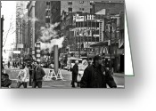 Peaked Greeting Cards - Lexington Avenue Greeting Card by RicardMN Photography