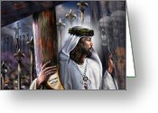 Christ Greeting Cards - Liberation Beyond Comprehension1 Greeting Card by Reggie Duffie