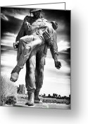 Survivor Greeting Cards - Liberation Greeting Card by John Rizzuto