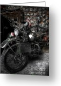 Old Bike Greeting Cards - Liberator Greeting Card by Yhun Suarez