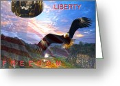 We The People Greeting Cards - Liberty And Freedom Greeting Card by Randall Branham