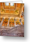 Cities Greeting Cards - Library of Congress II Greeting Card by Steven Ainsworth