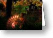 Licht Greeting Cards - Lichtwesen Greeting Card by Mimulux patricia no