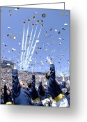 Us Air Force Greeting Cards - Lieutenants Commemorate Greeting Card by Stocktrek Images