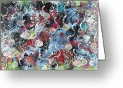 Representative Abstract Greeting Cards - Life Begins Greeting Card by David Raderstorf