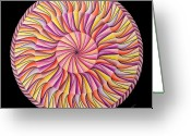 Mandalas Art Pastels Greeting Cards - Life in Movement Greeting Card by Marcia Lupo
