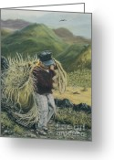 Campesino Greeting Cards - Life in the Fields Greeting Card by Jim Barber Hove