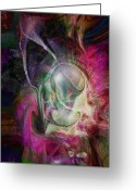 Soul Art Greeting Cards - Life in your Soul Greeting Card by Linda Sannuti