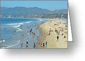 Vacationers Greeting Cards - Life Is A Beach Greeting Card by Fraida Gutovich