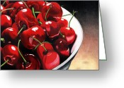 Cherries Greeting Cards - Life Is.... Greeting Card by Angela Armano