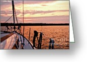 Sailing Cat Greeting Cards - Life is but a Dream Greeting Card by Jill Hyland