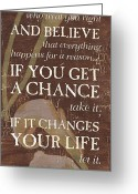 Motivational Greeting Cards - Life Is.... Greeting Card by Debbie DeWitt