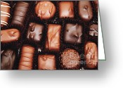 Nut Chocolate Greeting Cards - Life Is Like A Box Of Chocolates 2 Greeting Card by Andee Photography