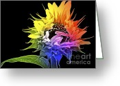 Rainbows Greeting Cards - Life is Like a Rainbow ... Greeting Card by Gwyn Newcombe