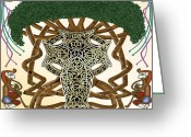 Celtic Knots Greeting Cards - Life is Universal Knot Greeting Card by Mike Sexton