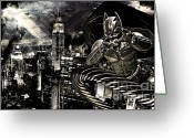 Gotham City Greeting Cards - Life Line Greeting Card by The DigArtisT