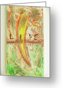 Science Fiction Sculpture Greeting Cards - Life Greeting Card by Neda Laketic 