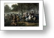 Us Patriot Greeting Cards - Life of George Washington Greeting Card by War Is Hell Store
