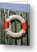 Alarm Greeting Cards - Lifebuoy Greeting Card by Joana Kruse