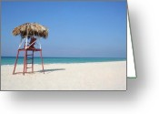 Playa Greeting Cards - Lifeguard Greeting Card by Joe Burns