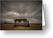 Long Island Greeting Cards - Lifeguard Shack Greeting Card by Evelina Kremsdorf