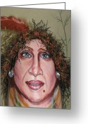 Babe Mixed Media Greeting Cards - Lifes A Drag Greeting Card by Cathi Doherty
