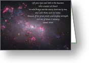 Isaiah Greeting Cards - Lift Your Eyes Greeting Card by Michael Peychich