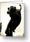 Soldier Photo Greeting Cards - Lifted Up To Heaven Greeting Card by Michael Knight