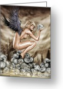 Latex Greeting Cards - Lifting the Veil Greeting Card by Pete Tapang