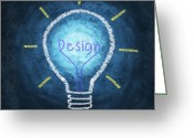 Art Education Greeting Cards - Light Bulb Design Greeting Card by Setsiri Silapasuwanchai