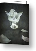 Pointed Greeting Cards - Light Bulb Greeting Card by Joana Kruse