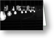 Row Greeting Cards - Light Bulbs Greeting Card by Carl Suurmond