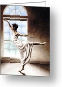 Figure Pose Greeting Cards - Light Elegance Greeting Card by Richard Young