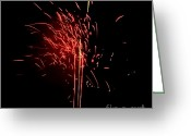 Pyrotechnics Greeting Cards - Light grass Greeting Card by Agusti Pardo Rossello