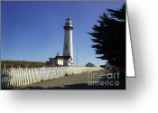 Acrylic Framed Greeting Cards - Light House  Greeting Card by The Kepharts